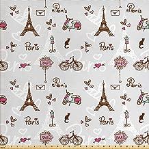 Best paris themed fabric Reviews