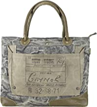 Bolso de compra señora Sunsa Vintage Bolso de hombro bolso de mano hecho de tela / tela con cuero 51628
