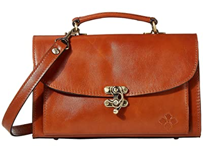 Patricia Nash Charonne East/West Hook Lock Satchel (Tan) Handbags