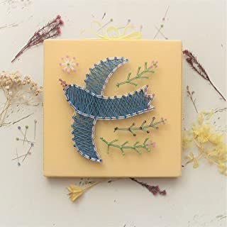 TUKUMO まち針ストリングアート「幸せの青い鳥」手芸キット 工作キット 手作り 北欧 子供 小学生 簡単 初級キット 知育 縁起物