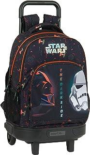 Mochila Escolar con Carro Incluido y Espalda Acolchada de Star Wars The Dark Side, 330x220x450mm
