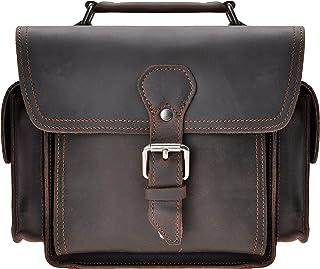 Leather Camera Bag ZLYC Vintage DSLR SLR Carrying Case Removable Shockproof Padded Camera Case Small Messenger Shoulder Ba...