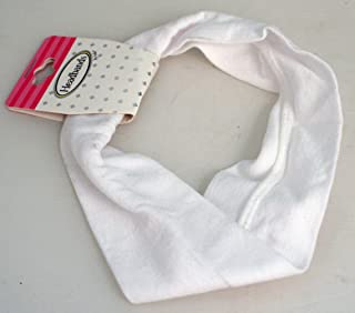 Mia Soft Stretchy Cloth Headband Made In Italy-Soft Crunchie Feel Material! Solid White Color-Approximately 2