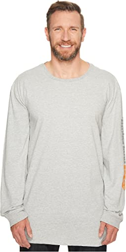 Extended Base Plate Blended Long Sleeve T-Shirt with Logo