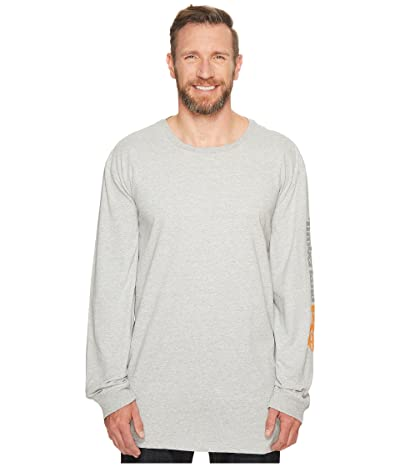 Timberland PRO Extended Base Plate Blended Long Sleeve T-Shirt with Logo (Light Heather Grey) Men