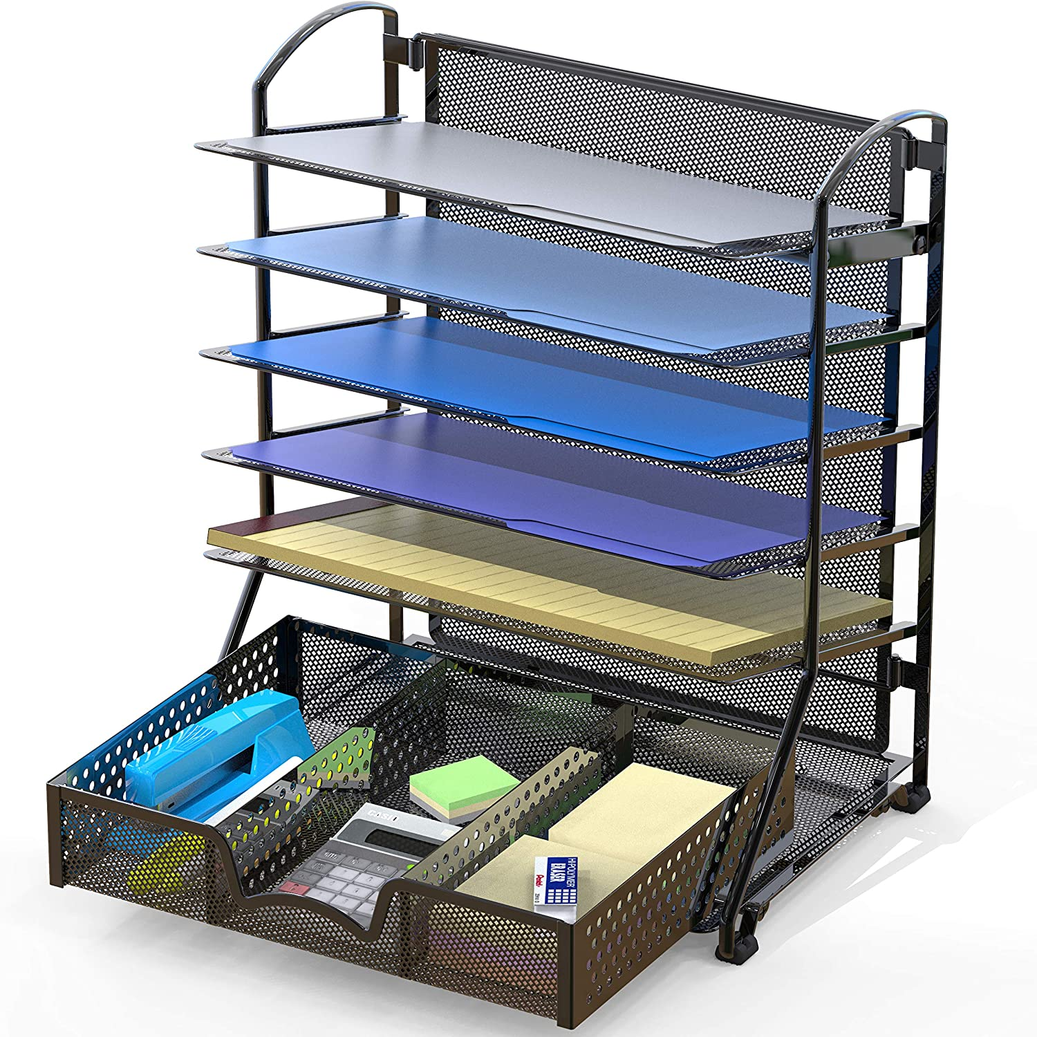 Max 71% OFF SimpleHouseware 6 Tucson Mall Trays Desk Document with S File Organizer Tray