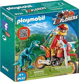 Playmobil Motocross Bike with Raptor Building Set
