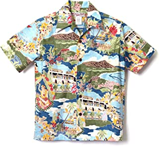 HULA KEIKI (フラケイキ) アロハシャツ【 メニュー柄 】HK-19005 / BLUE
