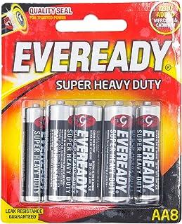 Eveready Super Heavy Duty 1215BP-8 AA, 8ct
