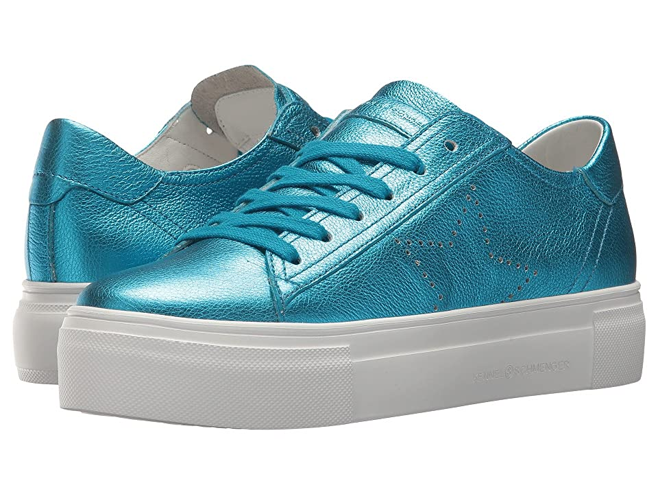 Kennel & Schmenger Big Star Perforated Sneaker (Pool Metallic Calf) Women