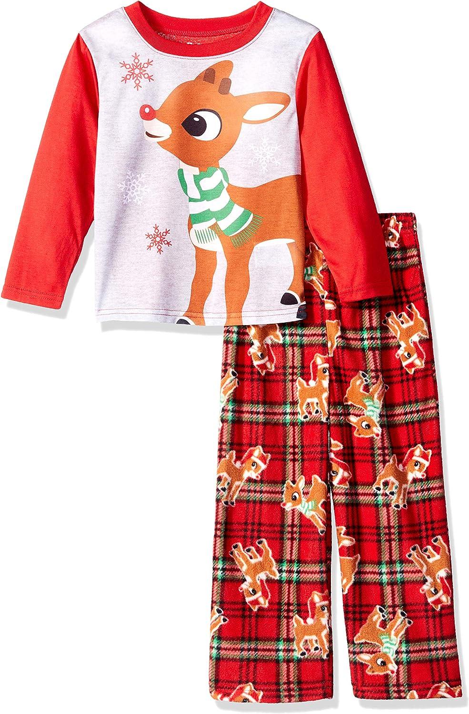 Rudolph Boys Red-Nosed Reindeer 2-Piece Fleece Pajama Set