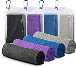 """Famiry 4 Packs Cooling Towel (40""""x 12""""), Ice Towel, Soft Breathable Chilly Towel, Microfiber Towel for Yoga, Sport, Runnin..."""
