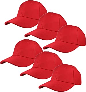 Gelante Plain Blank Baseball Caps Adjustable Back Strap Wholesale Lot 6 Pack