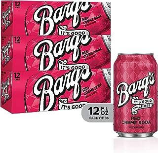 Barq's Red Creme Soda Soft Drink, 12 Fl Oz, 36 Pack, Red Creme, 12 Fl Oz () , 12 Fl Oz (Pack of 1)
