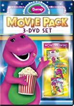 Barney Movie Pack: 3-DVD Set (Jungle Friends / Animal ABCs / Let`s Go On Vacation)