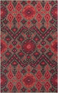 Surya Centennial CNT-1095 Hand Tufted 100-Percent Wool Ikat and Suzani Accent Rug, 3-Feet 3-Inch by 5-Feet 3-Inch