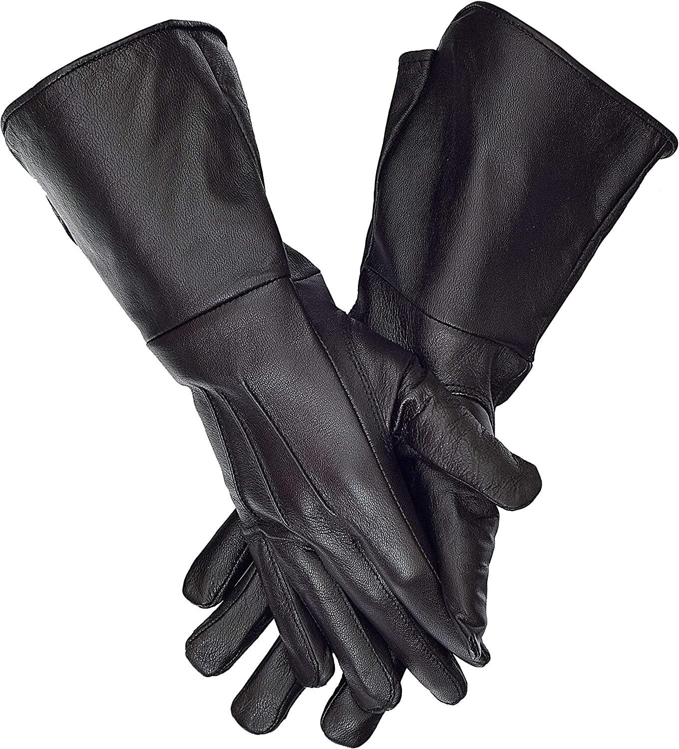 Gauntlets Medieval Long Cuff Leather Gloves
