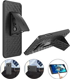 LOVPHONE LG G6 Holster Case, Secure Belt Clip Holster & Kickstand Combo 180° Degree Rotating Locking Swivel + Shockproof Protection Case (Black)