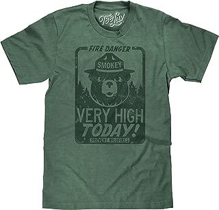 Tee Luv Smokey Bear Shirt - Fire Danger Very High Today Tri Blend T-Shirt