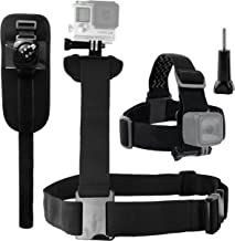 CamKix Shoulder Harness, Head Strap and Wrist Mount Bundle Compatible with Gopro Hero 8 Black, 7, 6, 5, Black, Session, Hero 4, Session, Black, Silver, Hero+ LCD, 3+, 3 and DJI Osmo Action