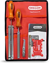 "Oregon 558488 Sharpening and Bar Maintenance Kit for 1/4"", 3/8"" Low Profile Chainsaw Chain, with 4.0mm (5/32-Inch) Round File"