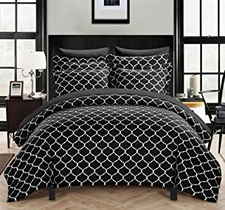 Chic Home Brooklyn 2 Piece Cover Set, Twin, Black