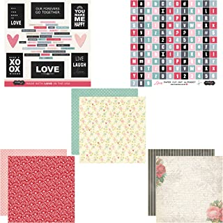 Scrapbook Customs Themed Paper and Stickers Scrapbook Kit, Love
