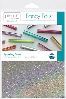"Gina K. Designs for Therm O Web Sparkling Silver Gina K Designs Fancy Foil 6""X8"" 12/Pkg, Count"