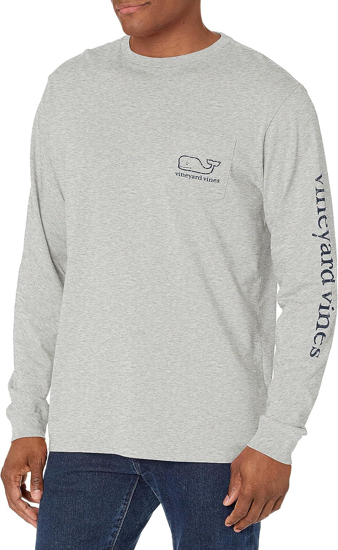 Vineyard Vines Men's Long 信託 Sleeve Pocket T-Shirt Whale Vintage 早割クーポン