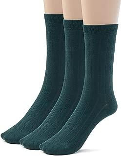3 or 6 Pk Bamboo Ribbed Boys Girls Crew Socks, Casual School Uniform Basic Socks