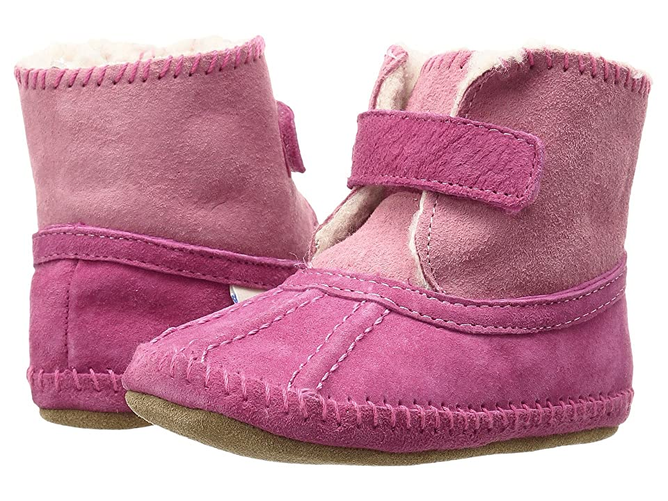 Robeez Galway Cozy Bootie Soft Sole (Infant/Toddler) (Pink) Girls Shoes