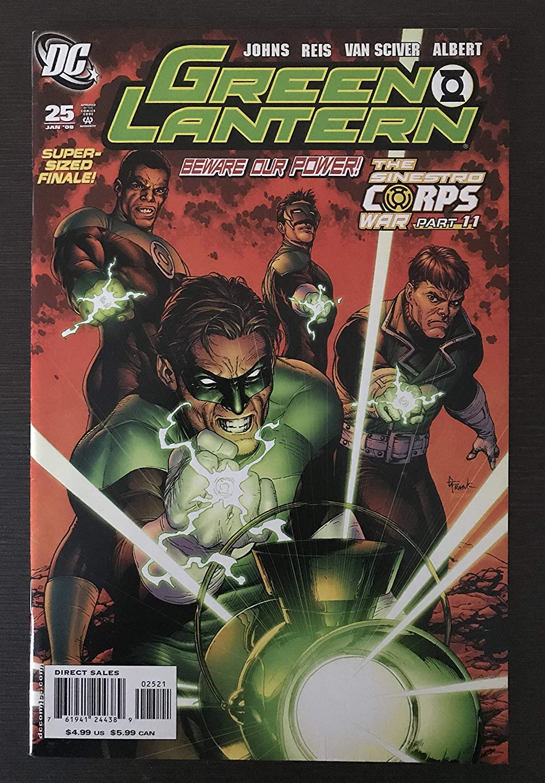 Green Soldering Lantern #25 2008 Variant DC Comic a Book half More dozen than F