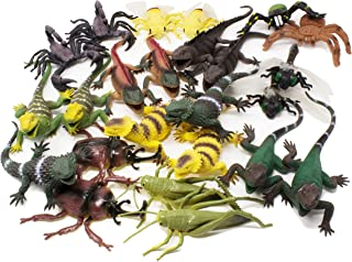 Boley Jumbo 24 Piece Lizards, Bugs, Insects Action Figure Playset - Realistic Educational Lizard, Bug, Insect Figurines - Perfect for Party Favors and Stocking Stuffers!