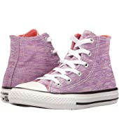 Converse Kids - Chuck Taylor All Star Jersey Knit Hi (Little Kid)