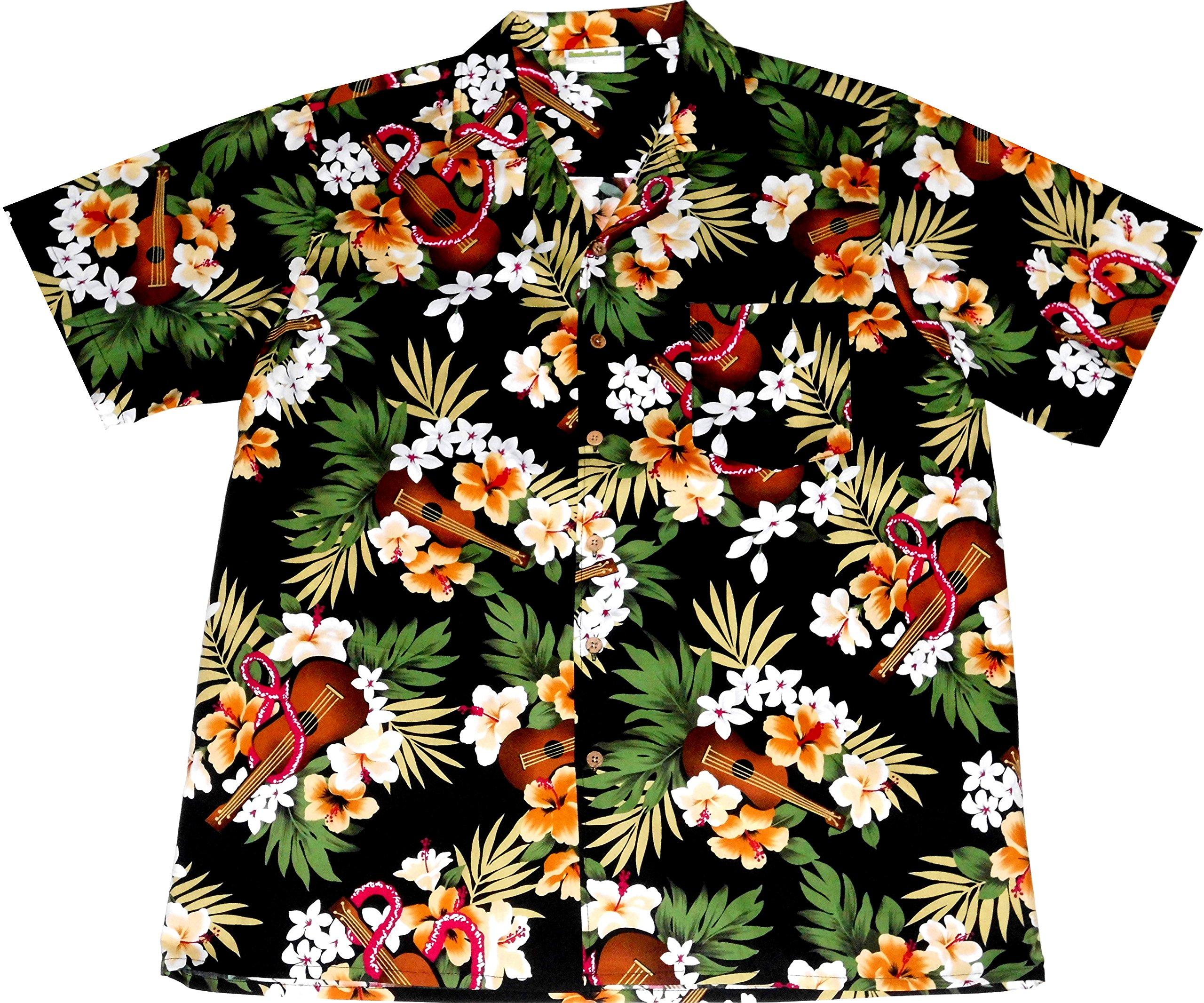 """Camisa Hawaiana Hombre """"Hawaiian Ukulele"""", 100% algodón, tamaño XL: Amazon.es: Juguetes y juegos"""