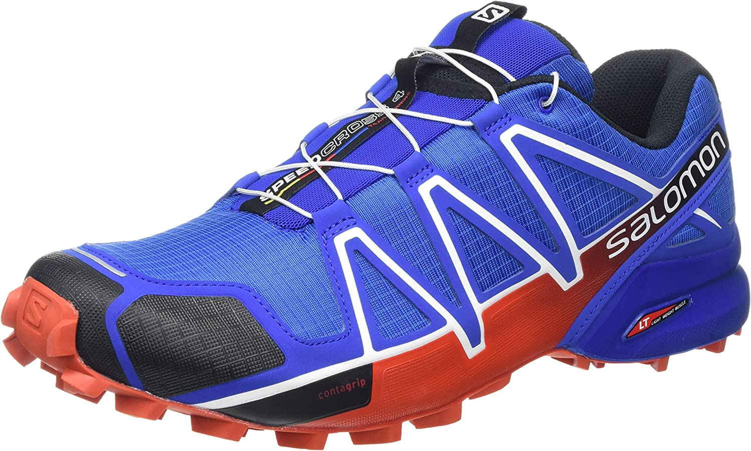 Salomon Men's Speedcross 4 Trail Running shoes, bluee Yonder Black Lava orange, 8 UK