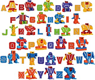 Alphabet Robot Action Figure Toys for Kids ABC Learning, Birthday Party, School Classroom Rewards, Carnival Prizes, Pre-School Education Toy,Easter Basket Stuffers