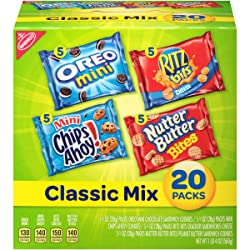 Nabisco Classic Cookie & Cracker Mix, Variety Pack with Oreo Mini, Mini Chips Ahoy!, Nutter Butter B