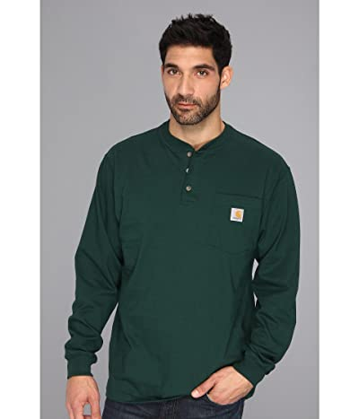 Carhartt Workwear Pocket L/S Henley (Hunter Green) Men