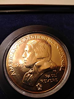 1972 American Revolution Bicentennial Commemorative Gold Plated George Washington Medal