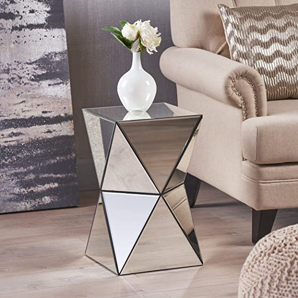 Great Deal Furniture 298214 Aedon Mirrored Side Table