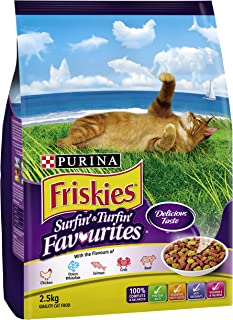 Purina Friskies Adult and Senior Surfin & Turfin Favourites, 2.5kg
