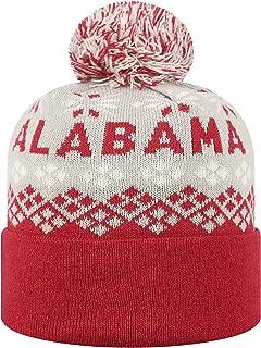 NCAA Alabama Crimson Tide Top of the World Adult Cumulus Striped Cuffed Knit
