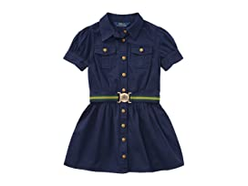 9414b3b0a Polo Ralph Lauren Kids Tissue Chino Shirtdress (Toddler) at Zappos.com