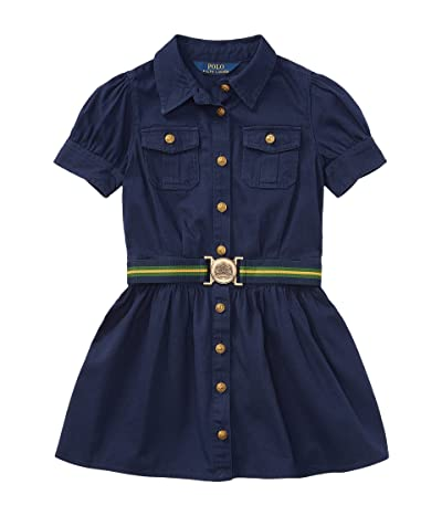 Polo Ralph Lauren Kids Tissue Chino Shirtdress (Little Kids) (Newport Navy) Girl