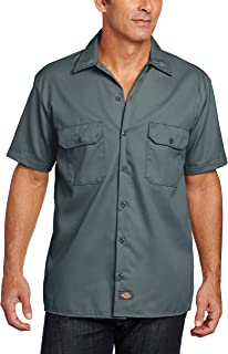 Dickies Men's Short-Sleeve Work Shirt, Lincoln Green, Large
