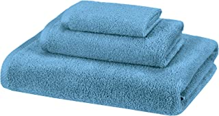 AmazonBasics 3 Piece Cotton Quick-Dry Bath Towel Set - Lake Blue