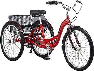 Schwinn Meridian Adult Trike, Three Wheel Cruiser Bike, Multiple Speeds, 26-Inch Wheels,..