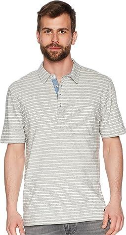 True Grit - Heather Jaspe Stripe Short Sleeve Polo