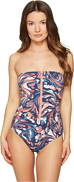 Stella McCartney - Mix and Match Marbles Strapless One-Piece